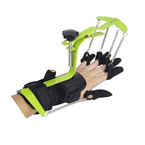 genmine Finger Training Device Fingerboard Finger Separator Splint Training Equipment Finger Orthoses Rehabilitation (Type 1) (Green)