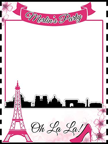 Custom Paris Photo Booth Prop - Sizes 36x24, 48x36; Personalized Social Media Style, Paris theme party, French Photo booth frame, Eiffel tower, oh la la, Bachelorette, sweet 16; Handmade Nursery Decor