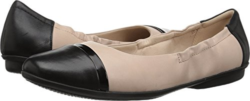 Ballet Cap Toe Flats - CLARKS Women's Gracelin Jenny Ballet Flat, Nude Pink Leather, 075 M US