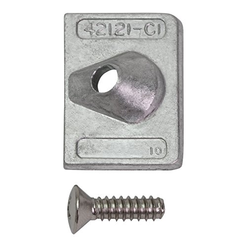 Quicksilver 42121Q02 Square Aluminum Anode Set - Mercury or Mariner and Force Outboards (Force Outboard Parts)