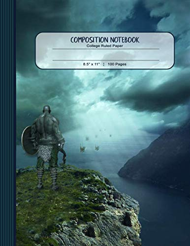 Composition Notebook: Journal (Large) - College Ruled Lined Writing And Journaling Book - Viking Landscape