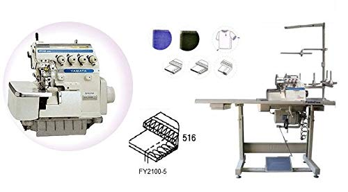 Yamata Industrial Overlock Sewing Machine, K.D Table & Servo Motor with Ikonix, LED Light DIY.