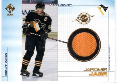 2000-01 Private Stock Game Gear #89 Jaromir Jagr Game-Worn Jersey Card - Pittsburgh Penguins
