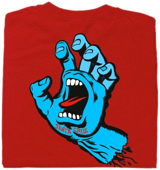 Santa Cruz Skateboards Screaming Hand Crew Short Sleeve T-Shirt