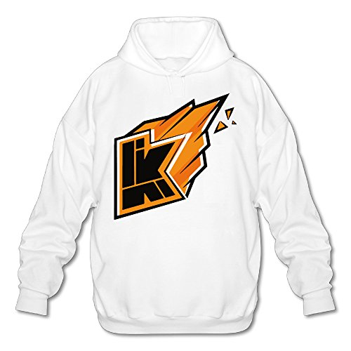 Price comparison product image Kwebbelkop Youtube Men's Fleece Hoodie Adult Sweater White XXL