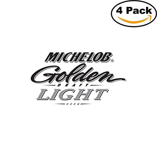 michelob-3-beer-logo-alcohol-4-vinyl-stickers-decal-bumper-window-bar-wall-4x4
