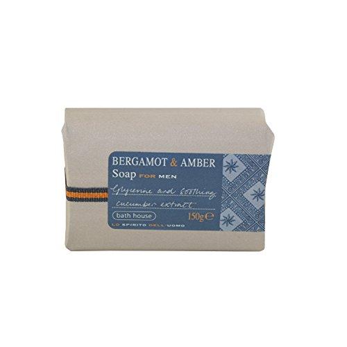 Bath House Bergamot & Amber Soap for Men 150g bar