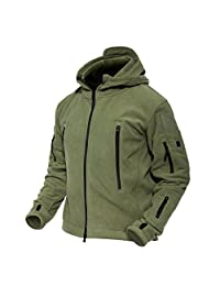 Magcomsen Men 's Windproof Warm Military Tactical Fleece Jacket