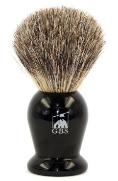 GBS 100% Pure Badger Bristle Shaving Brush Black Handle! Use with any Soap Cream or Foam - Compliments All Razors, and Mugs! Ultimate Best Wet Shaving Experience!