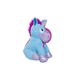 Outward Hound Tuffones Unicorn Holiday Plush Dog Toy, Corded Seams and Corduroy Stuffed Toy