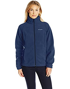Women's Petite Benton Springs Full Zip Fleece Jacket - Medium - Columbia Navy