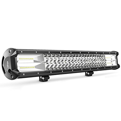 (Nilight 18005C-ALED Light Bar 23Inch 297W Triple Row 29700LM Flood Spot Combo Beam Led Bar Driving Lights Boat Lights Super Bright Led Off Road Lights for Trucks,2 Years Warranty)