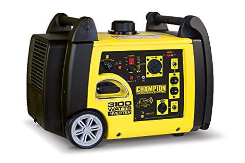 Champion Power Equipment 75537i 3100 Watt RV Ready Portable Inverter Generator with Wireless Remote (Power Gas Generator)