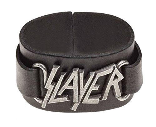 Slayer Wristband Classic Band Logo Official Alchemy Black Leather Buckle