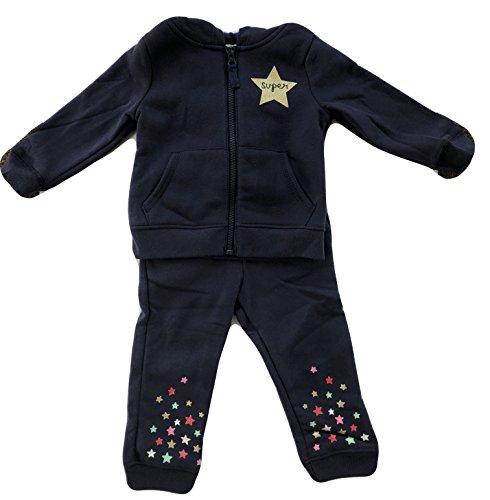 Carter's Little Girls' Fleece Hoodie and Pants 2-Piece Set (Super Star Navy, (2 Piece Sweatpants)
