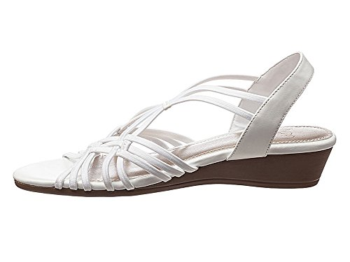 Strappy Impo Rene Peep White Toe Sandals Wedge rrvwCq