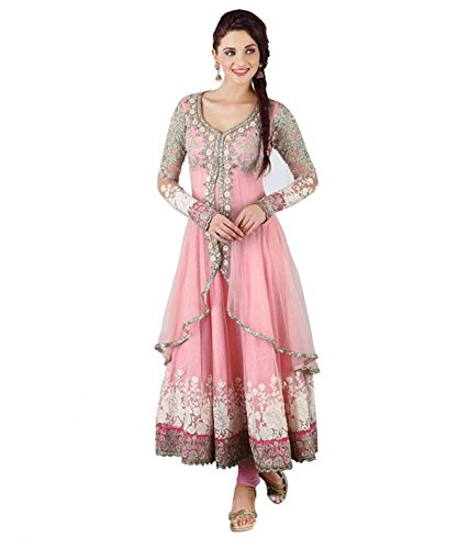 Anarkali Salwar Kameez Designer Indian Bollywood Ethnic Bridal Wedding (Pink)
