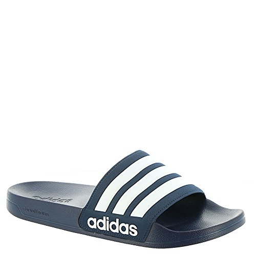 adidas NEO Herren CF Adilette Slide Sandale College Navy / Weiß / Collegiate Navy
