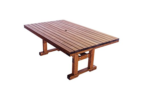 Eugene Quality Outdoor Dining Patio Rectangle Table ()