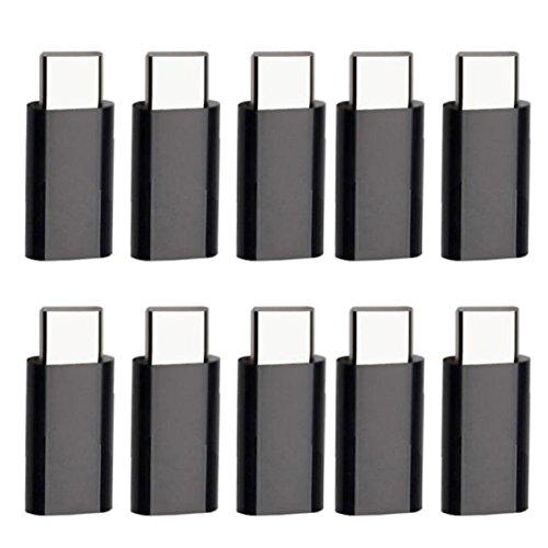Lookatool 10X USB 3.1 Type-C Male to Micro USB Female Converter USB-C Adapter Type