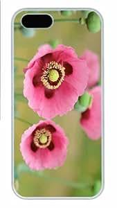 Best-Diy Hot iPhone 5S Customized Unique Print Design Pink dLUBjzbapAu Poppy New Fashion PC White iPhone 5/5S case covers