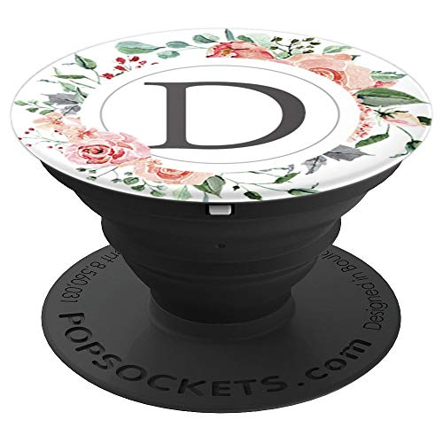 - Spring Wreath Letter D PopSocket Monogram Garden Initial D - PopSockets Grip and Stand for Phones and Tablets