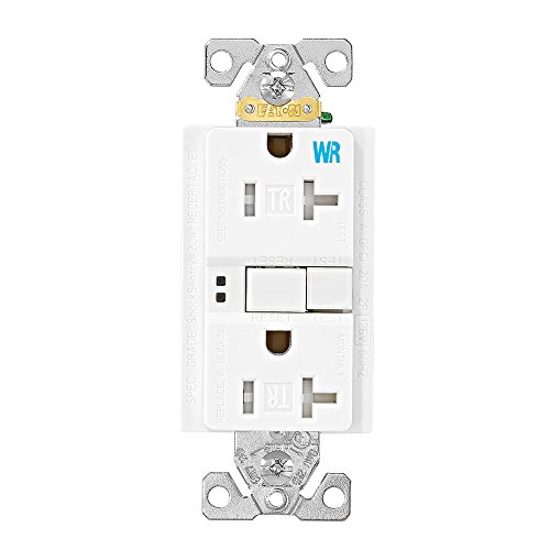 EATON TWRSGF20W Arrow Hart Tamper And Weather Resistant Duplex Gfci Receptacle, 125 Vac, 20 A, 2 Pole, 3 Wire, White
