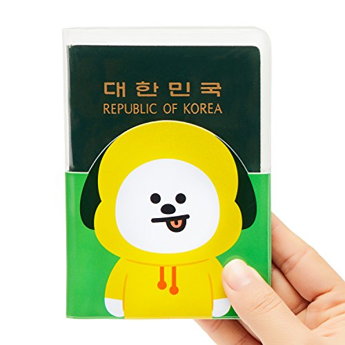 BT21 Official Merchandise by Line Friends - CHIMMY Character Passport Holder Cover