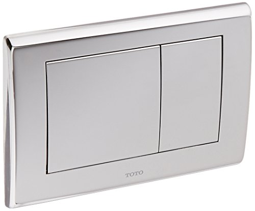 Toto YT820#CP Convex Push Plate with Dual Button, Polished - Dual Button