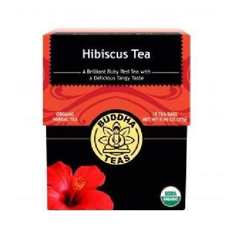 Organic Hibiscus Flower Tea 18 Bleach Free Tea Bags Caffeine Free Tea Supports Circulatory