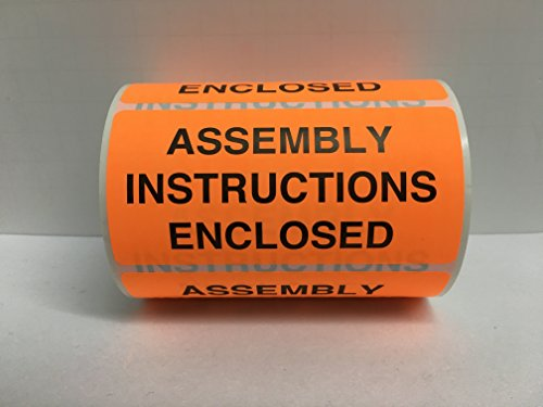 1 Roll 4x2 Orange ASSEMBLY INSTRUCTIONS ENCLOSED Special Handling Shipping Warehouse Pallet Stickers 500 labels per - Warehouse Shipping