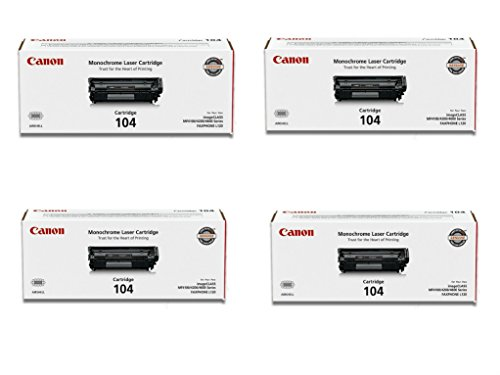 Canon 104 (0263B001) Original Black Toner Cartridge 4-Pack ()