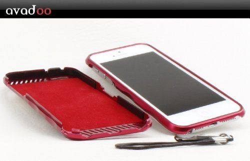 iMatch Aluminium Bumper Case Aluminium rot Colourdesing für iPhone 5 !!! - Aluminium key Schlüssel Bumper Hüller für das NEUE iPhone 5 !!!