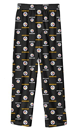 Outerstuff Pittsburgh Steelers Toddler NFL All Over Team Logo Pajama Sleep Pants