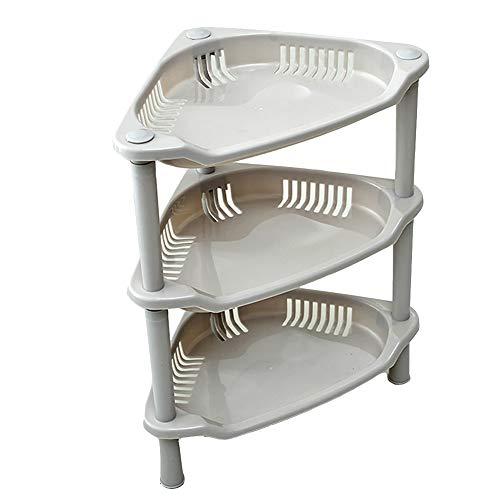 TEERFU 3 Tier Corner Triangular Table, Shelf Free Stand - Plastic Construction