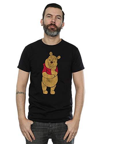 (Disney Men's Winnie The Pooh Classic Pooh T-Shirt Black X-Large)