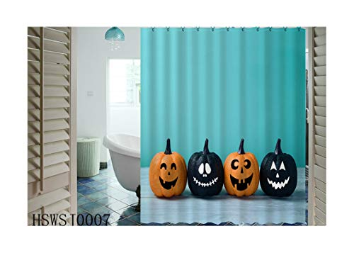 3 Vanity Windsor Light (Aokarry Hotel Quality Polyester Shower Curtain for Bathroom Pumpkin Style 3 180X180Cm, Washable)