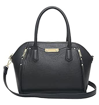 Aitbags PU Leather Beautiful Black Womens Purses and Handbags Large Tote with Shoulder Strap