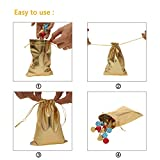"""BEAVO Pack of 100 5""""x 7"""" Heavy Duty Gold Drawstring Organza Jewelry Pouches Wedding Party Christmas Favor Gift Candy Chocolate Bags"""