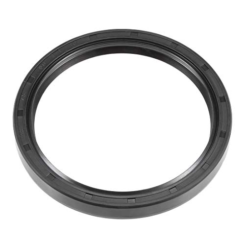 uxcell Oil Seal, TC 75mm x 90mm x 10mm, Nitrile Rubber Cover Double Lip ()
