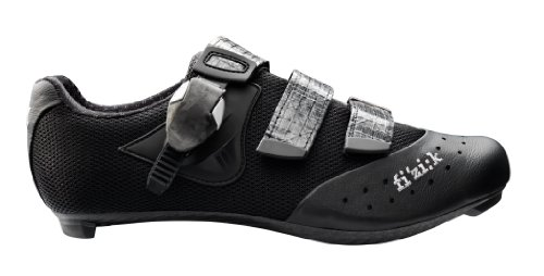 Fizik Men's R1 Uomo Road Cycling Shoes, Black/Black Mesh, Size 43.5