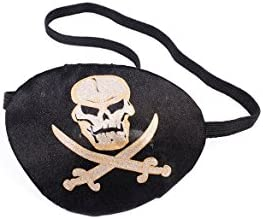 Forum Novelties Party Supplies Unisex-Adults Pirate Eye Patch with Printing, White, Standard, Multi