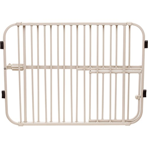 Carlson Pet Products Lil' Tuffy Expandable Gate with Small Pet Door 41Z4iFtzNIL