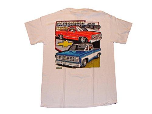 Chevrolet Silverado Pickup Trucks Men's T Shirt (Medium)