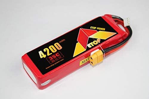 LiPo11.1V-4200mAh(35C)XT60付きリポバッテリー:E-Top Power