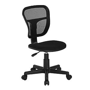 Amazon.com: Homycasa Rolling Armless Task Chair Kids Study ...
