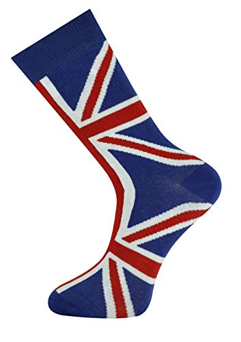 - Mens Multi Design Crew Socks British Flag