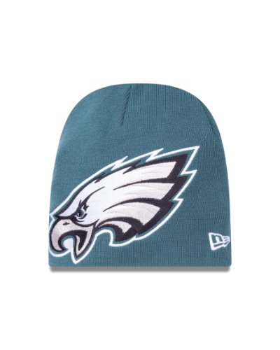 Cuffless Hat Cap Knit (NFL Philadelphia Eagles Big One Two Cuffless Knit Cap)