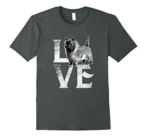 Mens Love Cairn Terrier Dogs T-Shirt Best Dog Trainer Gifts XL Dark Heather