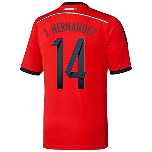 トレース慣れるグラムAdidas J. HERNANDEZ #14 Mexico Away Jersey World Cup 2014/サッカーユニフォーム メキシコ アウェイ用 ワールドカップ2014 背番号14 J.エルナンデス